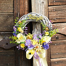 Dekorácie - Venček na dvere Vitajte - 9546488_