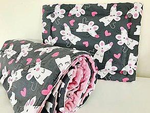 Textil - Detska deka a vankus minky - 9545167_