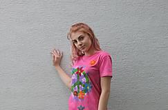 Tričká - Kvetované hippies tričko PEACE veľkosť S - 9546333_