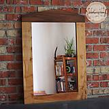 Zrkadlá - Drevené zrkadlo AMERICKÝ ORECH / PLATAN - 9545953_