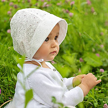 Detské čiapky - Baby čepiec Madeira Ivory - 9546340_