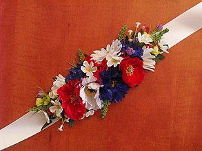 Opasky - Folklorny kvetinový opasok - 9543889_