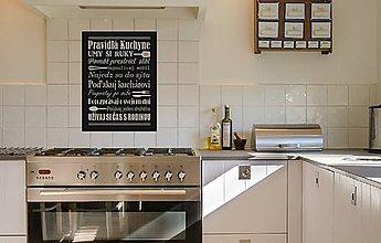 Dekorácie - Pravidlá kuchyne (Čierna) - 9544543_