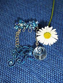 Odznaky/Brošne - Plávajúca modrá rybička - 9546262_