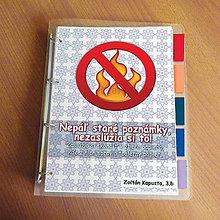 Papiernictvo - Vtipný zakladač proti páleniu zbytočných poznámok 8 - 9544132_