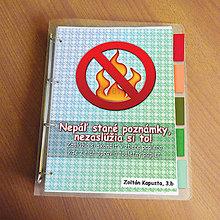 Papiernictvo - Vtipný zakladač proti páleniu zbytočných poznámok - 9545416_