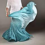 Sukne - Mořský vánek...dlouhá hedvábná sukně - 9544260_