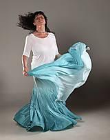 Sukne - Mořský vánek...SET dlouhé hedvábné sukně a šály - 9544305_