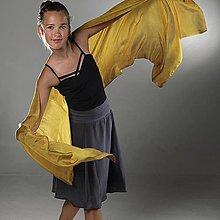 Sukne - Jako myší kožíšek - hedvábná sukně SKLADOVKA - 9544135_