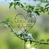 Dekorácie - svadobné srdiečko mladomanželom - 9548081_