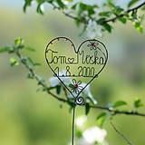Dekorácie - svadobné srdiečko mladomanželom - 9548082_