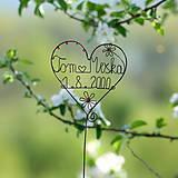 Dekorácie - svadobné srdiečko mladomanželom - 9548083_