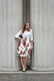 Sukne - Skládaná sukně MEGAN, pas 68-70 cm - 9546805_
