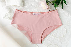 Bielizeň/Plavky - Bambusové nohavičky starorůžové - 9546665_