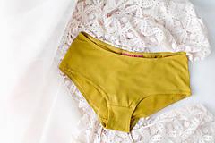 Bielizeň/Plavky - Bambusové nohavičky hořčicové - 9546703_