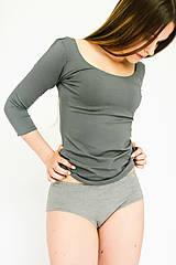 Bielizeň/Plavky - Bambusové nohavičky šedý melír - 9546715_