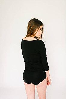 Bielizeň/Plavky - Bambusové nohavičky černé - 9546676_