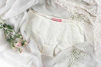 Bielizeň/Plavky - Bambusové nohavičky smetanové - 9546721_
