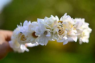 Ozdoby do vlasov - Pôvab bielych ruží - 9548862_