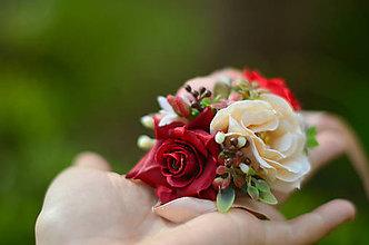 Náramky - Kúzlo červených ruží... AKCIA - 9548949_