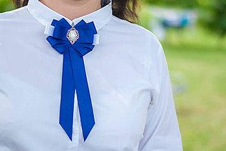 Odznaky/Brošne - Brošňa pod golier Maissa - modrá - 9547875_