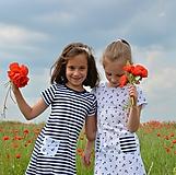 Detské oblečenie - Carina šaty marine - 9547379_