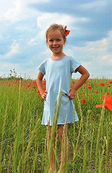 Detské oblečenie - Carina šaty dots, posledný kus! - 9547905_