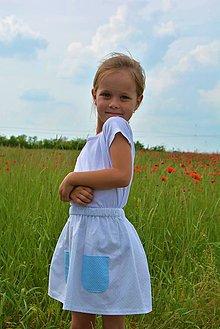 Detské oblečenie - Celesta letná sukňa s vreckami - 9548384_