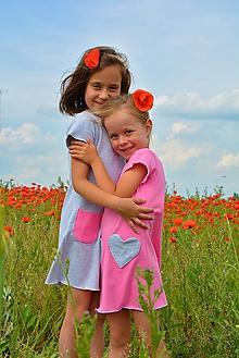 Detské oblečenie - Carina šaty pink 104, posledný kus! - 9548403_
