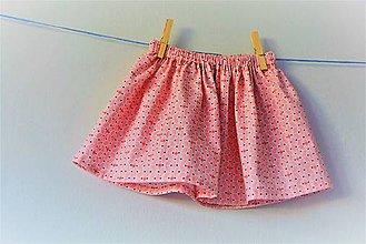 Detské oblečenie - Celesta sukňa salmon - 9548441_