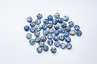 Komponenty - Tmavo-modré kabošony - 12mm - 9548481_