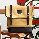 - Aktovkový batoh Olivia (žlto-hnedý) - 9547230_