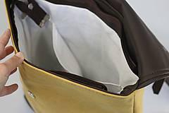 Batohy - Aktovkový batoh Olivia (modro-hnedý) - 9547252_