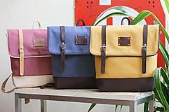 Batohy - Aktovkový batoh Olivia (modro-hnedý) - 9547254_