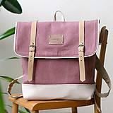 Batohy - Aktovkový batoh Olivia (ružovo-béžový) - 9547277_