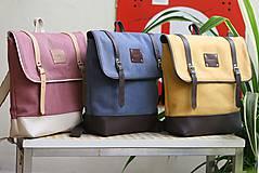 Batohy - Aktovkový batoh Olivia (ružovo-béžový) - 9547278_