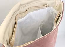 Batohy - Aktovkový batoh Olivia (ružovo-béžový) - 9547282_