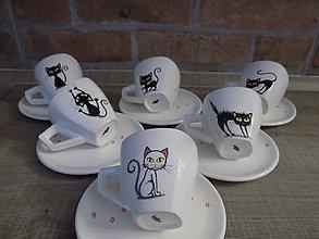 Nádoby - Sada 6 šálok s mačkami - 9548844_
