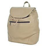 Batohy - Kožený batoh vo svetlo hnedej farbe - 9549160_