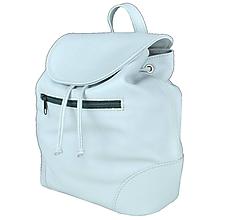 Batohy - Kožený batoh v perlovej farbe (jemne sivá) - 9549199_