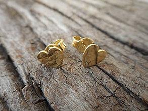 Náušnice - Náušničky srdiečka malé - 9547560_