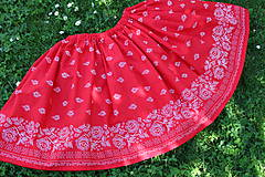 Sukňa-folk červená..
