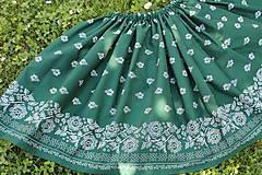 Sukňa -folk zelená