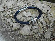 Náramky - Náramok dutinkový modrý - 9548993_