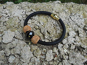Náramky - Náramok čierny dutinkový - 9548964_