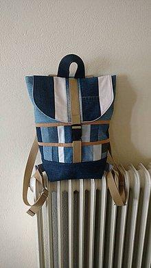 Batohy - Denim batoh (backpack) - 9547513_
