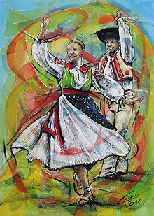 Obrazy - Jarná tancovačka na Liptove - 9548525_