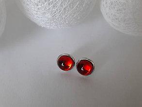 Sady šperkov - Set náušničky a prstienok *červený kabošonko* - 9548548_