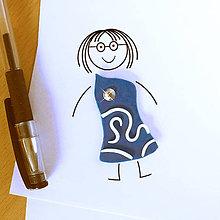 Magnetky - Šaty s kryštálikmi - FIMO magnetka (3) - 9547222_