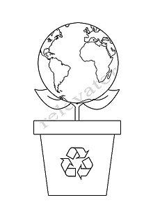 Hračky - Omaľovánky - listy na vytlačenie na tému OCHRANA ŽIVOTNÉHO PROSTREDIA (Rastlina Zem) - 9547669_